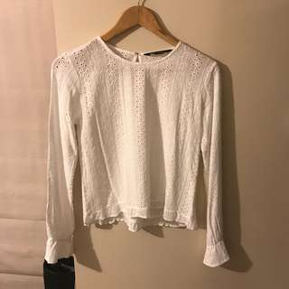Glassons white lace style shirt