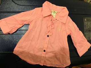 Guess Baby Pink Long Sleeves