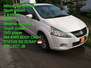 Mitsubishi Grandis Sport edition 2.4 mivec 2008 Reverse camera  Touch screen DVD player  RM 4999 BODY CASH