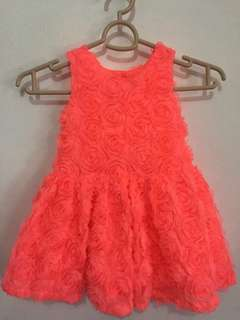 BNWT Cherokee Baby Toddler Rose Gown 3T