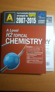 [A Levels] H2 Chemistry Topical TYS (2007-2015)