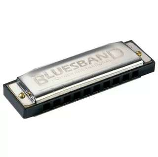 Authentic Hohner Blues Band 10 Holes (Key of C) Harmonica with Case.