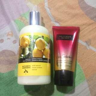 VICTORIA'S SECRET and MARKS & SPENCER lemon lotion authentic
