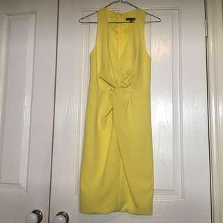 Sheike Yellow Midi Dress- Size 6