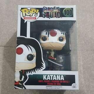 Legit Brand New With Box Funko Pop Heroes Suicide Squad Katana Toy Figure