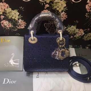 面交  Dior 迪奧燙鑽戴妃包  多色可選