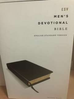 🚚 Esv men's devotional bible - brand new in packaging