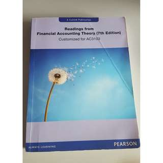 AC3103 Readings from Financial Accounting Theory (7th Edition)