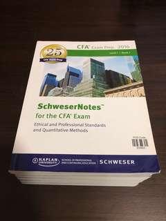 🚚 2016 CFA Exam Prep - Level 1 ((6 Books)) by Kaplan University ((SCHWESER))