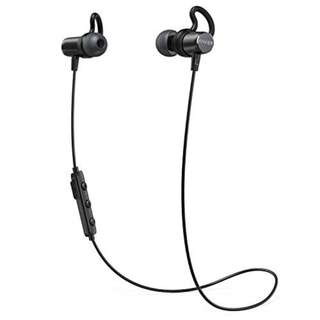 Anker SoundBuds Surge Bluetooth Wireless Earphones with Magnetic Connector and Carry Pouch
