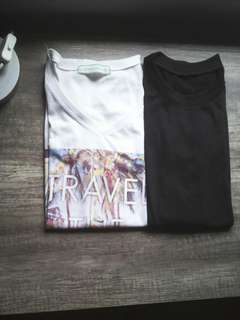 Statement shirt and plain black tshirt bundle