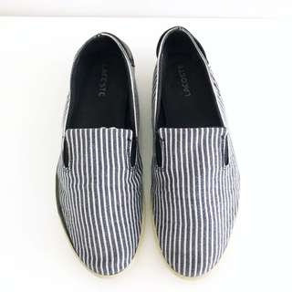 Lacoste Men's Striped Canvas Slip-on