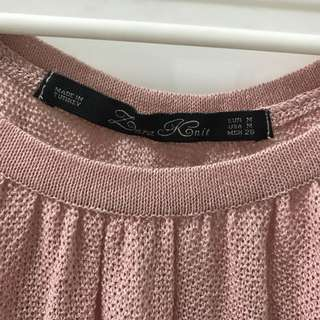 Zara knit top (pink)