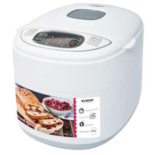#FREE SHIPPING#KHIND BM500 BREAD MAKER 12 BAKING FUNCTIONS