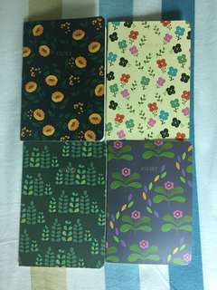 Notebooks with a floral design cover