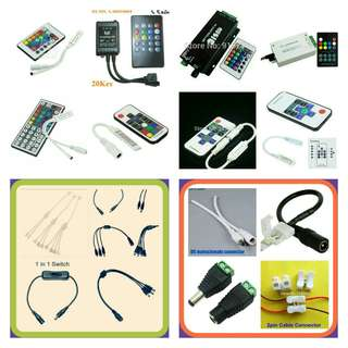 5050 / 3528 / 2811 / 2812 Remote Controller and Connector / Wire For Rgb and Single Color Led Strip Light