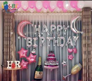 🚚 Happy birthday balloon decorations set(INSTOCK)
