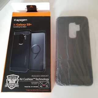 NEW Samsung S9+ Spigen Rugged Armour Case Black