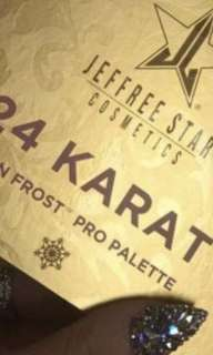 NEW IN BOX - AUTHENTIC AND NOT USED - JEFFREE STAR COSMETICS '24 KARAT' SKIN FROST PRO PALETTE