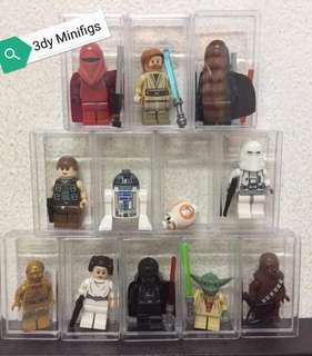 Minifigs starwars with acrylic box