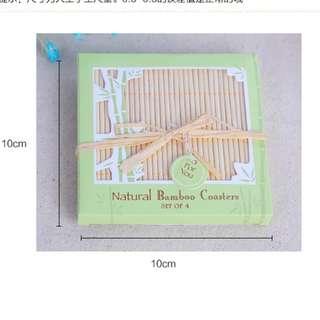 Bamboo Coaster Berkat/ Doorgifts/  Wedding Favors