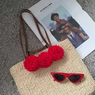 NEW COLLECTION 🏷Spring/ Summer 2018 Trends - Woven straw shoulder bag and sunglasses