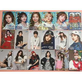 TWICE yes card 夜光 膠幻 閃咭  白咭