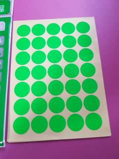 Antelope Green round label stickers