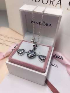 Pandora necklace/earring set