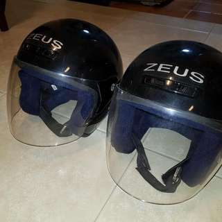 Motorcycle Helmet Pair