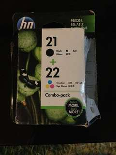 HP Printer Cartridge Combo Pack 21 and (22 x2)