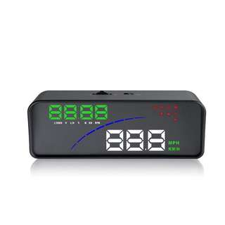 Car OBD HUD Head Up Display Speedometer Speed Warning Fuel Consumption