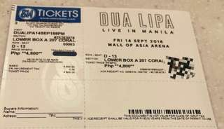 DUA LIPA LIVE IN MANILA LOWER BOX A