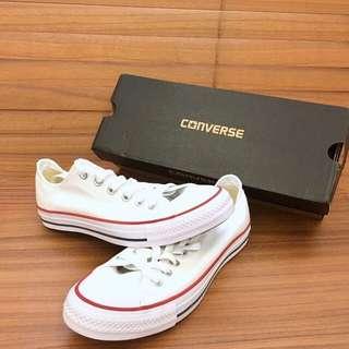 全新 CONVERSE Chuck Taylor All Star經典基本款帆布鞋-M7652C白 賣家腳尺寸為24.5/25都可以