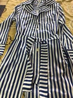 Imperial striped cover up dress(korea)