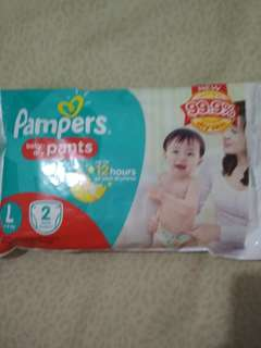 Pampers Pants Large 2s
