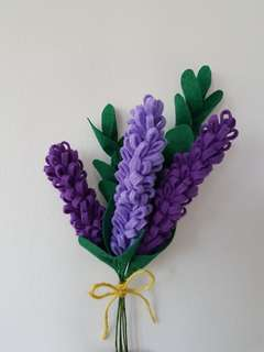 Felt Lavender Flower Bouquet