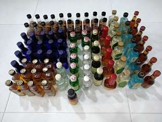 91 Miniature Bottle bundle Airline Collectables Collectibles