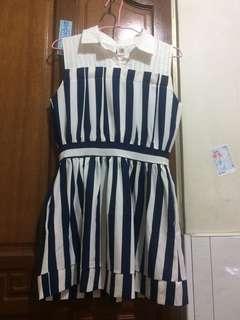 🚚 無袖襯衫條紋洋裝#女裝半價拉