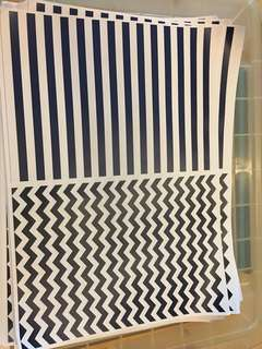 Nautical papers fans / rosettes