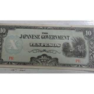 Philippines P10  Jap Occ paperMoney