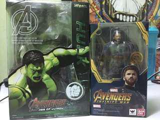 S.H figuarts captain america & Hulk