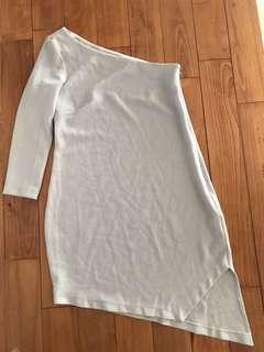 英國品牌 ASOS 單肩水藍色洋裝 one shoulder dress