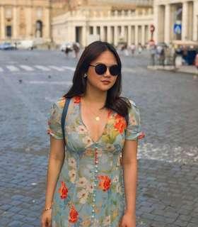 Ashley Yap European Floral Dress