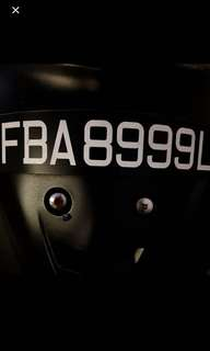 Buy this plate number FBA8999L