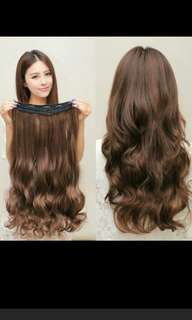 (NO INSTOCKS!)Preorder korean wavy curly clip on straight hair extension* waiting time 15 days after payment is made *chat to buy to order