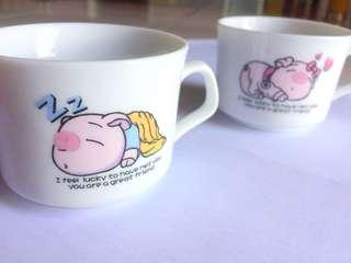 Cute couple coffee set