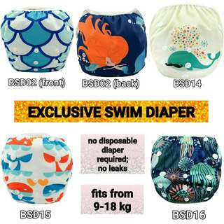 Washable Swim Diapers (9-18 kg)