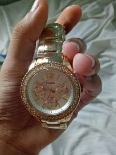 Brand new fossil watch Gold