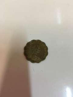 香港1980年女皇頭2毫硬幣